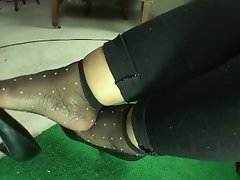 Sensual nylon socks