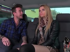 Filthy russians drilled in driving van luxuriate strong dick well