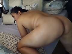 Thicc Asian cougar getting smashed from behind