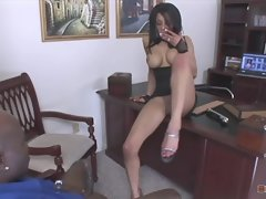 Alicia Sneaked Into Her Bosses Office And Commenced Masturbating