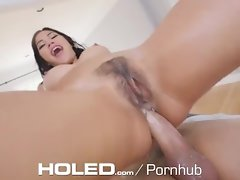 HOLED Kendra Spade oils her narrow asshole for playthings and a extremely large dick