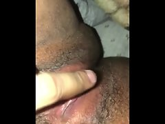 Dirty wife taunting with her filthy moist pussy