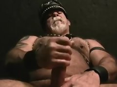 Leather Daddy Jack Off