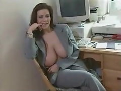 linsey dawn mckenzie getting her giant knockers interviewed