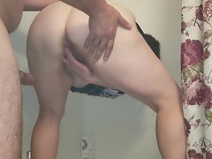 Sensual Cute bbw Gets Banged from Behind and Dribbles Cum
