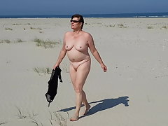 Naked on the beach