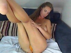 Larisa taunting with her enormous tits on webcam