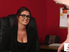 CFNM office hidden cam likes wanking session